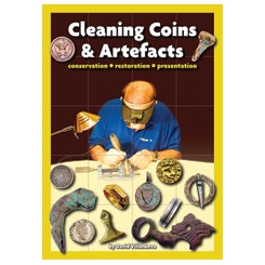 Cleaning coins and artefacts